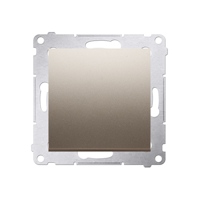 Kontakt Simon 54 Premium Zlatá Tlačítko jednopólové rozkratovací bez piktogramu rychlospojka, DPR1.01/44