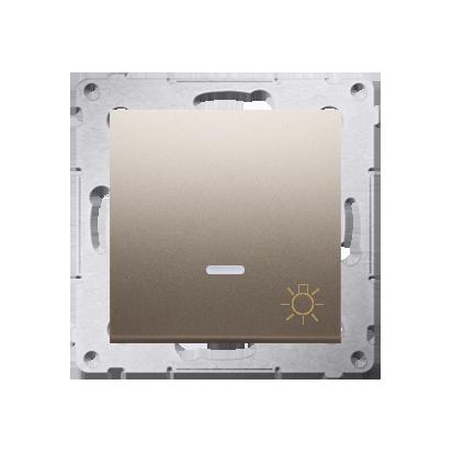 """Kontakt Simon 54 Premium Zlatá Tlačítko """"světlo"""" s podsvícením LED rychlospojka, DS1L.01/44"""