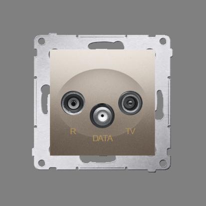 Kontakt Simon 54 Premium Zlatá Zásuvka R-TV-DATA (modul), DAD.01/44