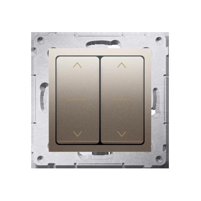 Kontakt Simon 54 Premium Zlatá dvojnásobný vypínač žaluzii, rychlospojka, DZW2.01/44