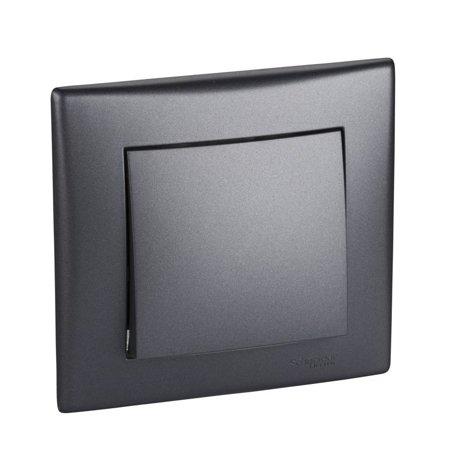 Křížový vypínač s rámečkem grafitová Sedna SDN0500270 Schneider Electric