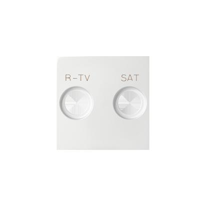Kryt zásuvky elektro-SAT, bílý Kontakt Simon 82 82097-30