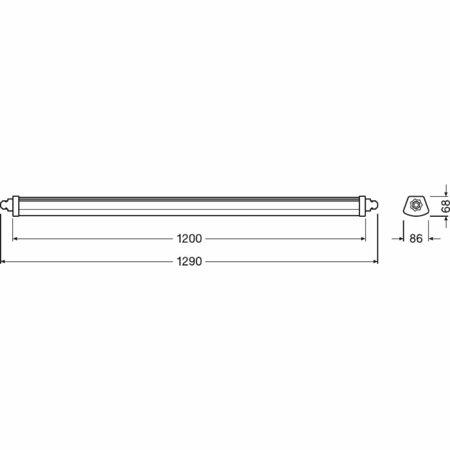 Lineární LED svítidlo 1200 23W 4000K IP65 DAMP PROOF COMPACT LEDVANCE