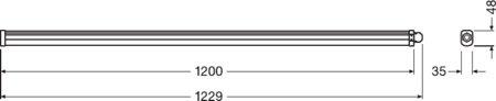 Lineární LED svítidlo 1200 36W 6500K IP65 DAMP PROOF SLIM VALUE LEDVANCE