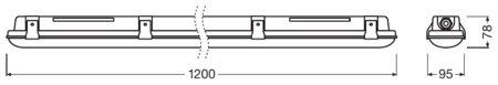 Lineární LED svítidlo stmívatelné 1200 39W 4000K IP65 DAMPPROOF DALI LEDVANCE