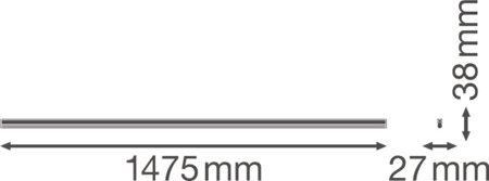 Lineární svítidlo LINEAR COMPACT BATTEN 1500 25W 3000K LEDVANCE