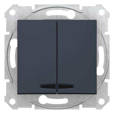 Lustrový vypínač s podsvícením grafitová Sedna SDN0300370 Schneider Electric
