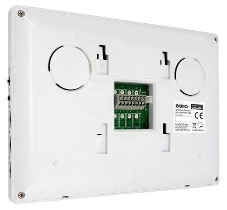 MONITOR ''EURA'' VDA-40A3 WHITE - displej 7'', otevírání dvou vstupů, modul WiFi, pro domovní videotelefony Eura Connect A33A142