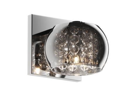 Nástěnná lampa stříbrná transparentní 1xG9 Zuma Line Crystal Wall W0076-01A-B5FZ