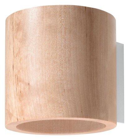 Nástěnné svítidlo ORBIS přírodní dřevo 1xG9 Sollux SL.0490