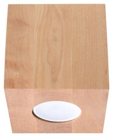 Plafon QUAD přírodní dřevo 1xGU10 Sollux SL.0493