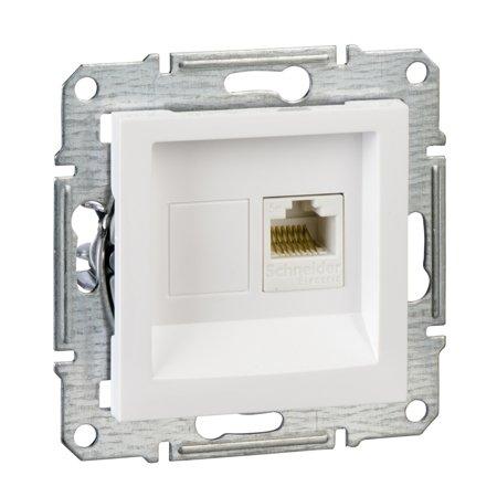 Počítačová zásuvka kat.5e UTP bez rámečku, bílá Schneider Electric Asfora EPH4300721