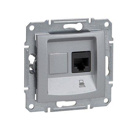 Počítačová zásuvka kategorie 6 stíněná hliník Sedna SDN4900160 Schneider Electric
