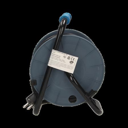 Prodlužovací kabel na bubnu MINI polyvinylchlorid 15m 4x2P+Z tyrkysová OR-AE-1339/T Orno