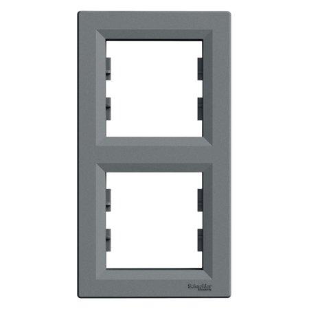 Rámeček 2-násobný svislý, ocel Schneider Electric Asfora EPH5810262