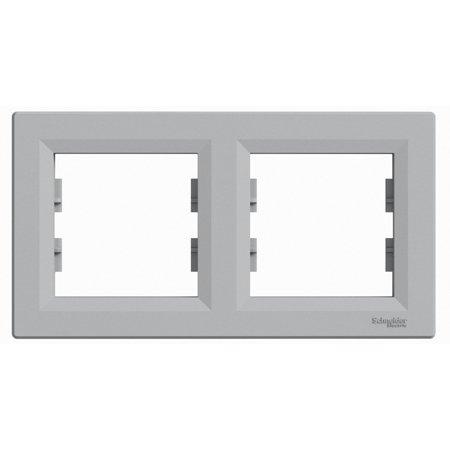 Rámeček 2-násobný vodorovný, hliník Schneider Electric Asfora EPH5800261