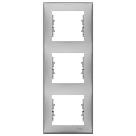 Rámeček 3-násobný svislý hliník Sedna SDN5801360 Schneider Electric