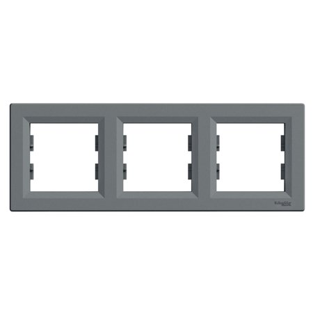 Rámeček 3-násobný vodorovný ocel Asfora Schneider Electric EPH5800362