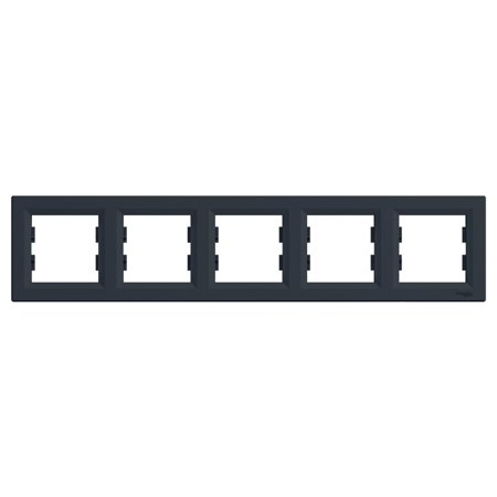 Rámeček 5-násobný vodorovný, antracit Schneider Electric Asfora EPH5800571