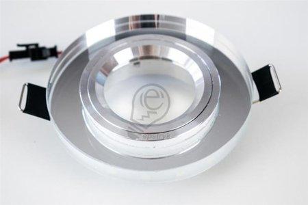 Riana LED C Chrome 6500K, halogenové sklo kulatá, studená barva