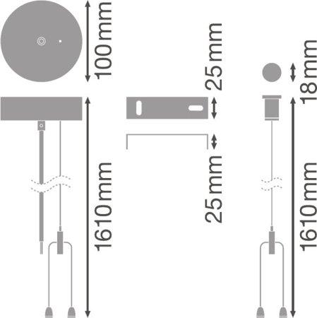 Sada příslušenství pro zavěšení svítidel LINEAR IndiviLED SUSPENSION KIT LEDVANCE