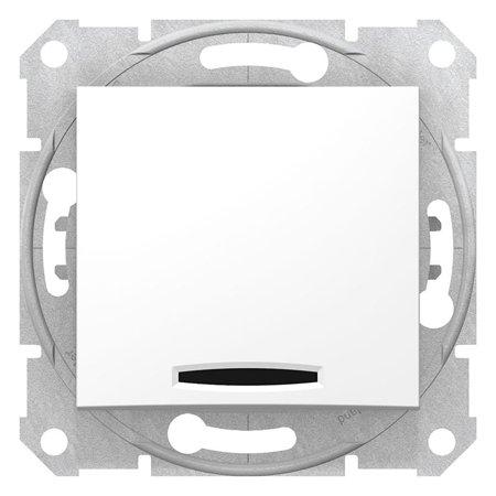 Schodišťový vypínač s podsvícením 16A bílá Sedna SDN1500221 Schneider Electric