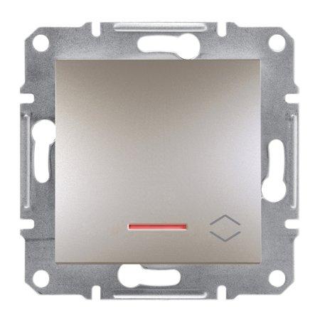 Schodišťový vypínač s podsvícením šroubové svorky bez rámečku, hnědá Schneider Electric Asfora EPH1500369