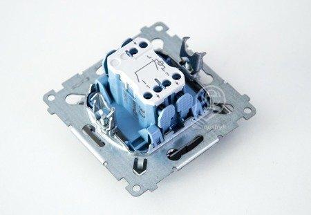Simon 54 Premium Antracit Přepínač sériový s podsvícením LED, pro verzi IP44 DW5BL.01/48