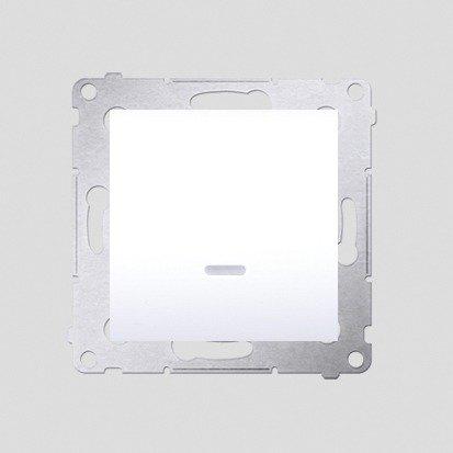 Simon 54 Premium Bílý Vypínač jednonásobný s podsvícením LED (modul) rychlospojka, DW1L.01/11