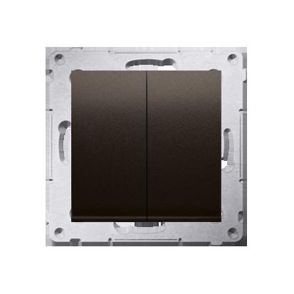Simon 54 Premium Hnědá, matný Přepínač sériový (modul) X šroubové koncovky, DW5A.01/46