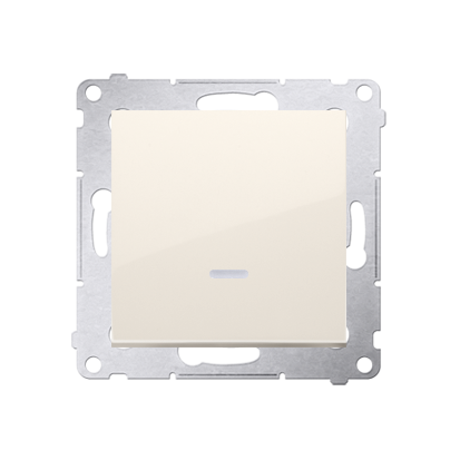 Simon 54 Premium Krémová Vypínač jednonásobný s podsvícením LED (modul) X šroubové koncovky, DW1AL.01/41