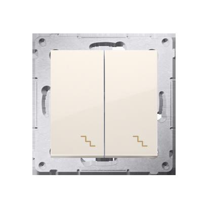 Simon 54 Premium Krémová Vypínač schodišťový dvojnásobný (modul) šroubové koncovky, DW6/2.01/41