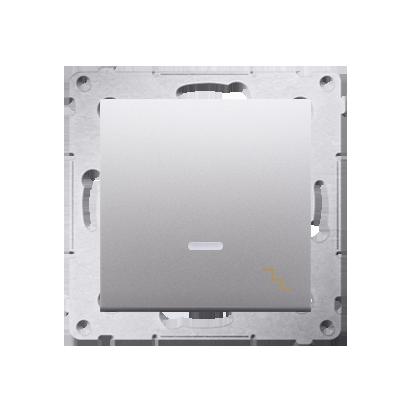 Simon 54 Premium Stříbrná Vypínač schodišťový s podsvícením LED (modul) rychlospojka, DW6L.01/43