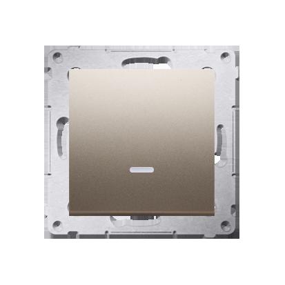 Simon 54 Premium Zlatá Vypínač jednonásobný s podsvícením LED (modul) rychlospojka, DW1L.01/44