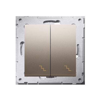 Simon 54 Premium Zlatá Vypínač schodišťový dvojnásobný (modul) šroubové koncovky, DW6/2.01/44