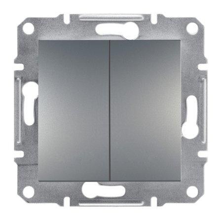 Spínač sériový bez rámečku ocel Asfora Schneider Electric EPH0300362