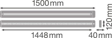 Stmívatelné svítidlo s čidlem pohybu LINEAR IndiviLED DIRECT/INDIRECT DALI 1500 56W 3000K LEDVANCE