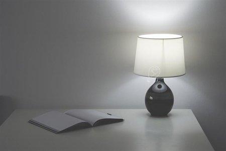 Stopní keramická lampa ROMA BLACK, E14 černá/béžová, 3206 Struhm