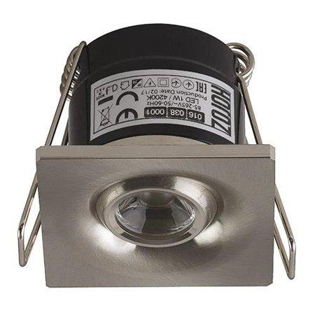 Stropní bodové svítidlo LAURA LED, 1W, 4000K, matný chrom, 3164, Horoz
