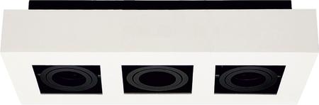 Stropní bodové svítidlo OSMIN 3 White IP20 hranaté bílé mat EDO777427 EDO