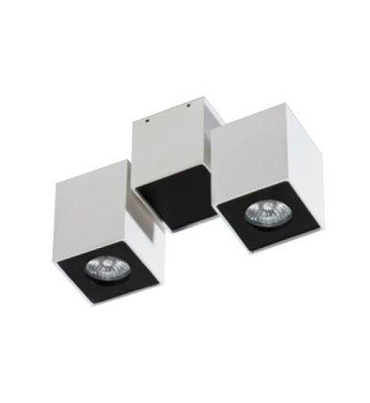 Stropní nástěnné svítidlo Flavio 2 bílá černá Azzardo GM4202