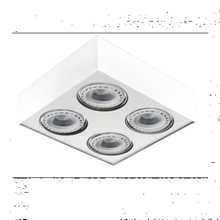 Svítidlo stropní Paulo 4 230V LED 15W stmívatelné bílé Azzardo GM4400