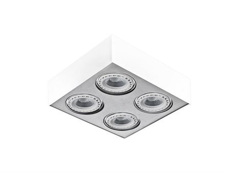 Svítidlo stropní Paulo 4 230V LED 16W bílá hliník Azzardo GM4400
