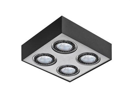 Svítidlo stropní Paulo 4 230V LED 7W stmívatelné černá hliník Azzardo GM4400