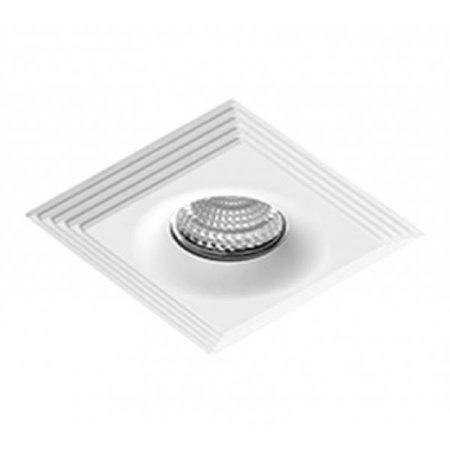 Svítidlo stropní podomítkové Luciano hranaté bílá Azzardo NC1760SQ-WH