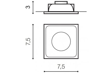 Svítidlo stropní podomítkové Pio černá Azzardo GM2108