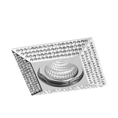 Svítidlo stropní podomítkové Piramide L chrom Azzardo NC1674SQ-CH