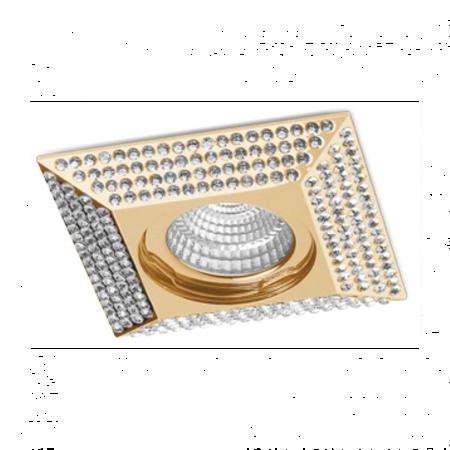 Svítidlo stropní podomítkové Piramide L zlatá Azzardo NC1674SQ-G