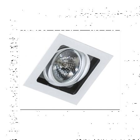 Svítidlo stropní podomítkové Sisto 1 bílá černá Azzardo GM2109
