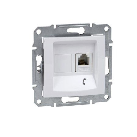 Telefonní zásuvka bílá Sedna SDN4101121 Schneider Electric